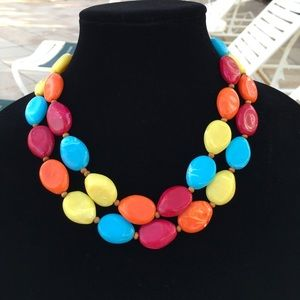 Jewelry - Multicolored Bead Statement Necklace